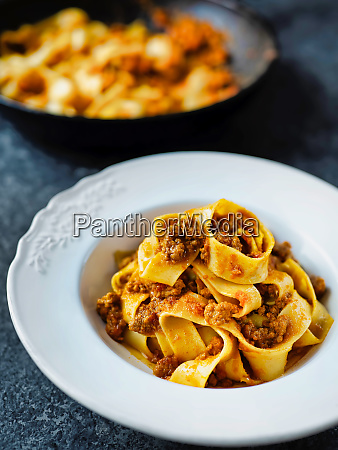 rustic, italian, pappardelle, bolognese, pasta, in - 26123454