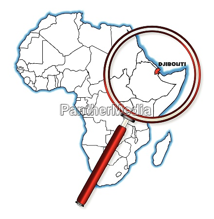 djibouti under a magnifying glass