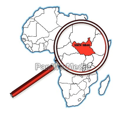 south sudan under a magnifying glass