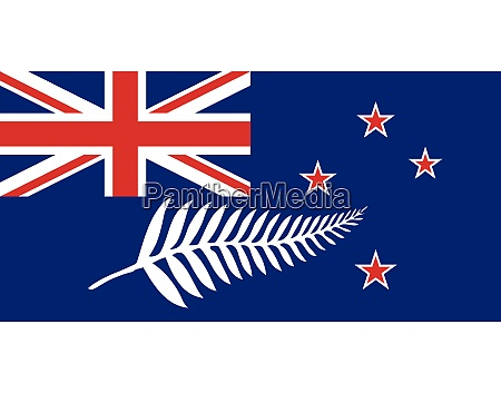 new zealand flag with silver fern