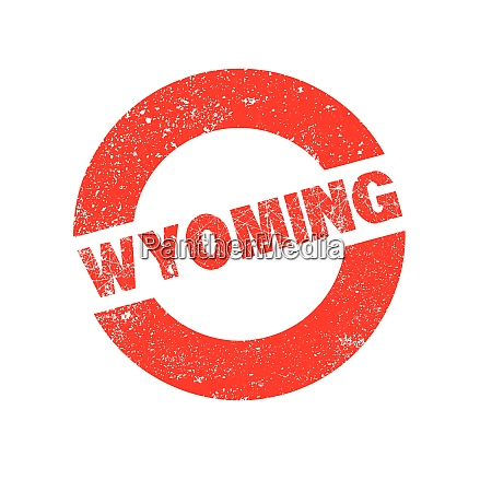 rubber ink stamp wyoming