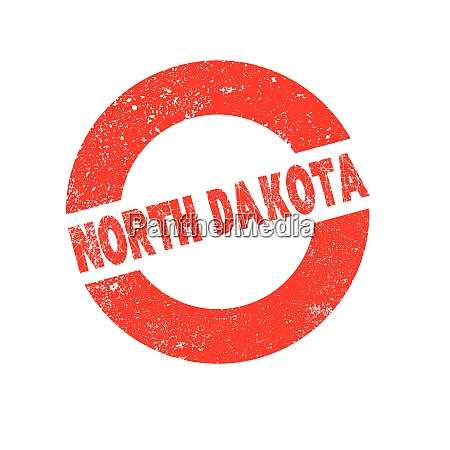 rubber ink stamp north dakota
