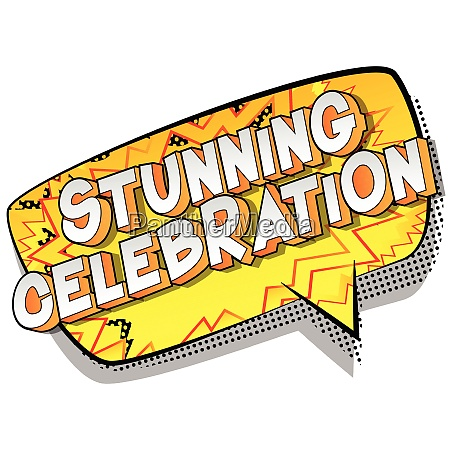 stunning celebration vector illustrated comic