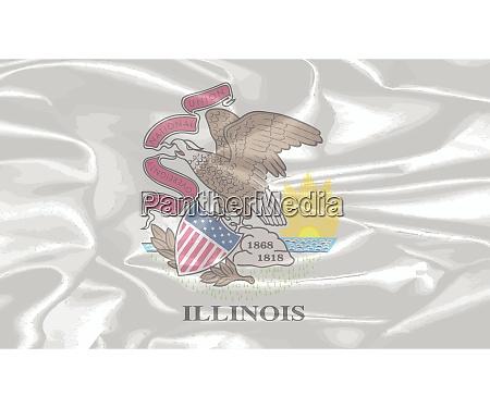 ilinois state silk flag