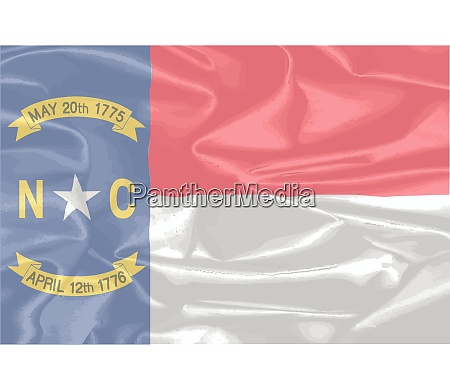 north carolina silk flag