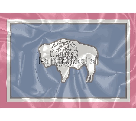 wyoming state silk flag