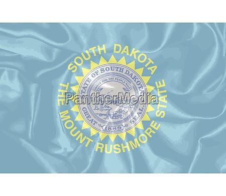 silk flag of south dakota