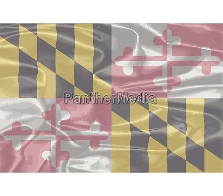 maryland state silk flag