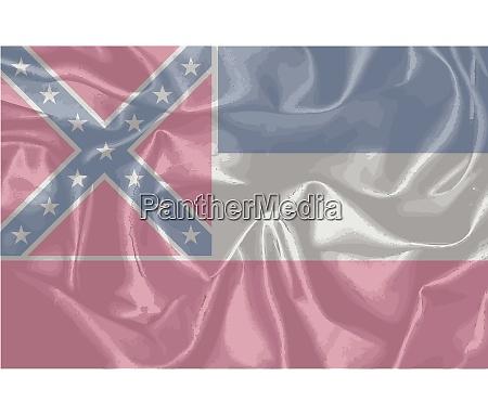 mississippi state silk flag