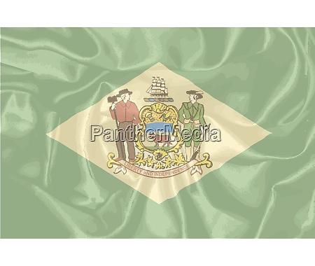 silk flag of delaware