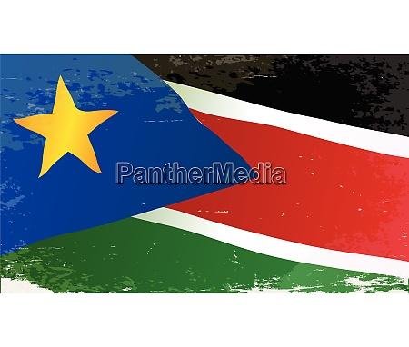 south sudan grunge flag