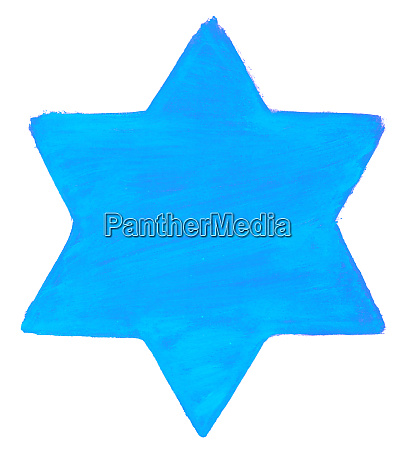 hand painted star with blue color