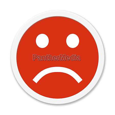 button showing negative mood rating or