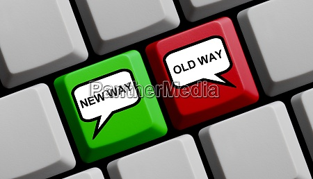 computer keyboard new way and old