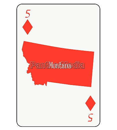 usa playing card 5 diamonds