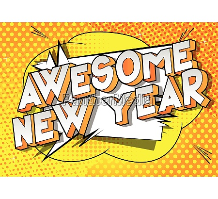 awesome new year comic book