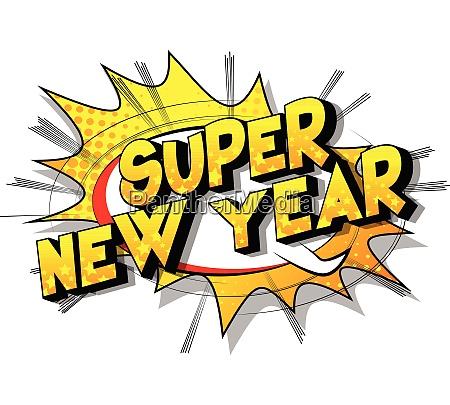 super new year comic book