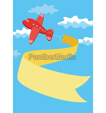 retro airplane with a banner vector