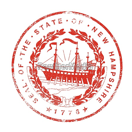 new hampshire seal rubber stamp