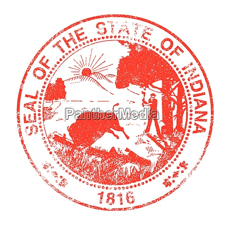 indiana seal rubber stamp