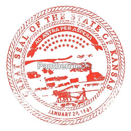kansas seal rubber stamp