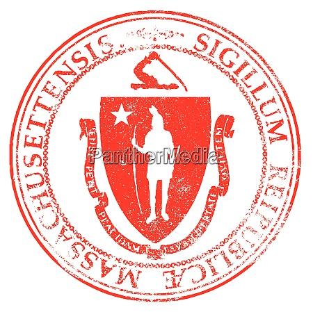 massachusetts seal stamp