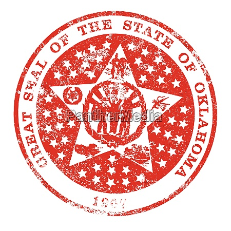 oklahoma seal rubber stamp