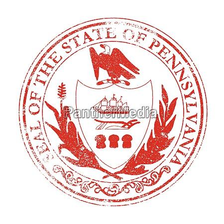pennsylvania seal rubber stamp