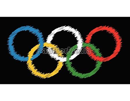 blackboard olympic rings