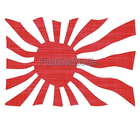 waving japanese flag