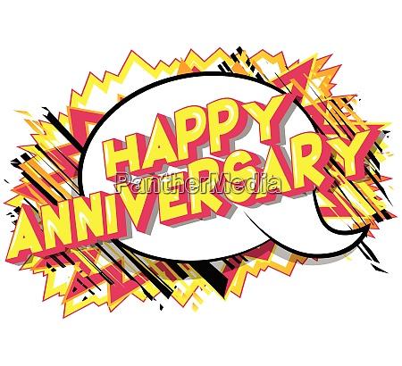 happy anniversary comic book style