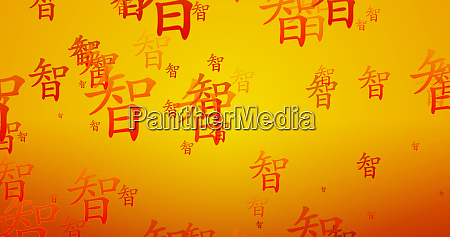 wisdom chinese writing blessing background