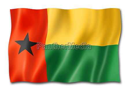 guinea bissau flag isolated on white
