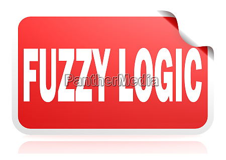 fuzzy logic red square banner