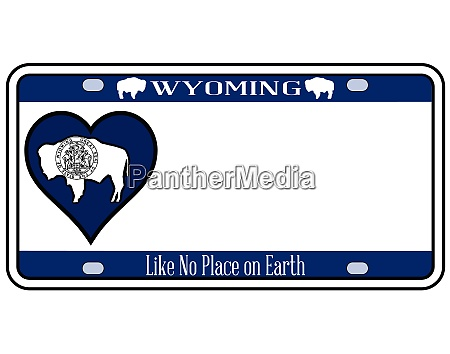 wyoming state license plate