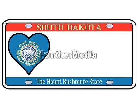 south dakota license plate