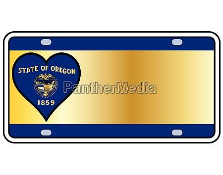 oregon state license plate