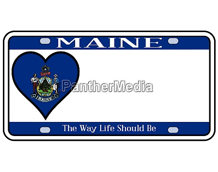 maine state license plate