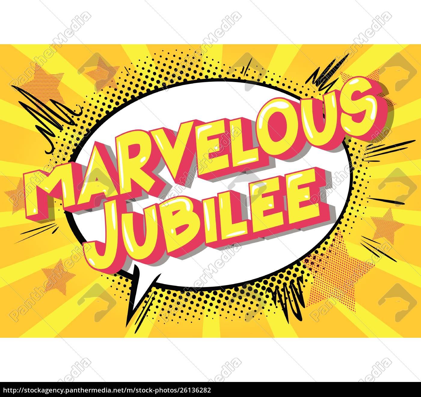 marvelous, jubilee, -, comic, book, style - 26136282
