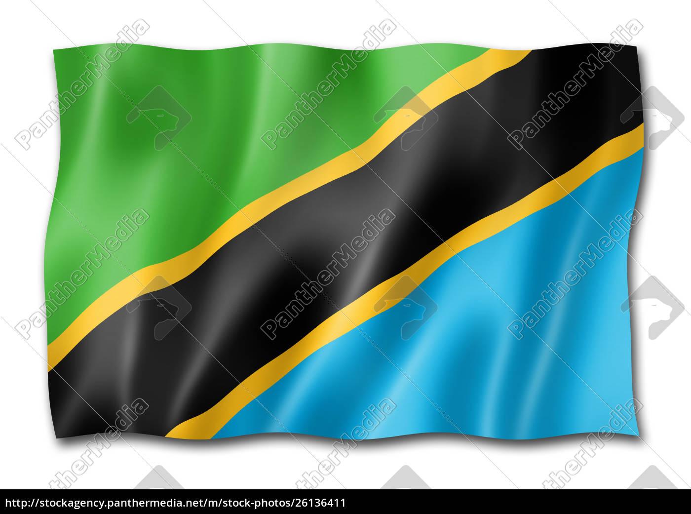 tanzania, flag, isolated, on, white - 26136411