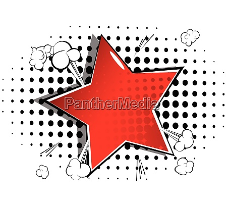 background with big star filled with