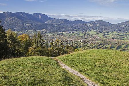 hiking trail in the isarwinkel