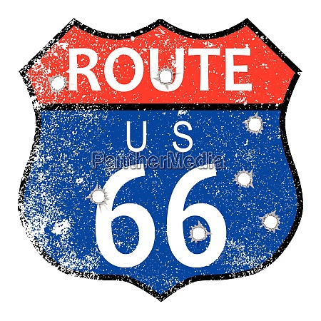 route 66 bullet holes
