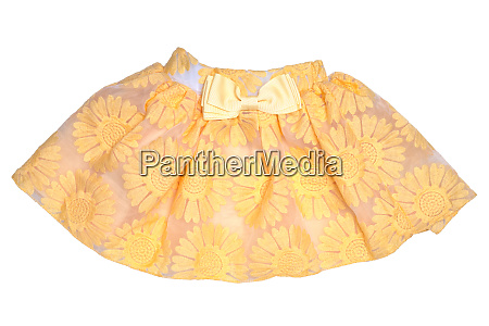 girls clothes festive beautiful yellow little