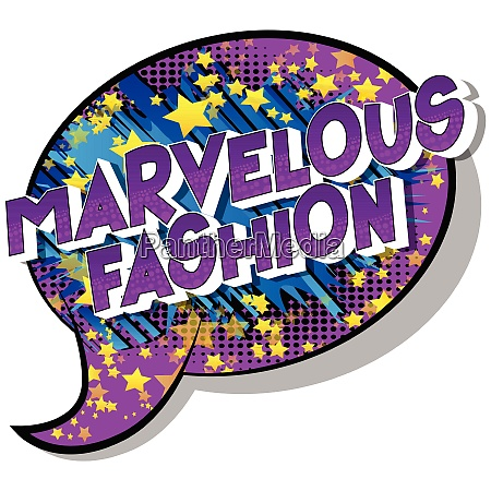 marvelous fashion comic book style