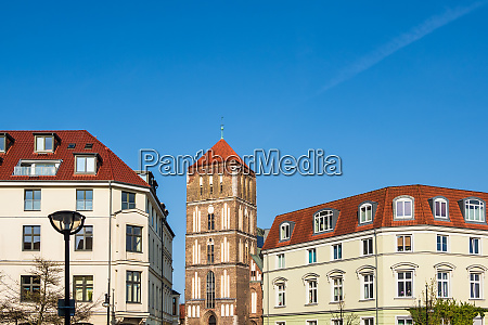 historical building in the city rostock