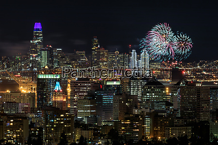 oakland and san francisco downtowns with