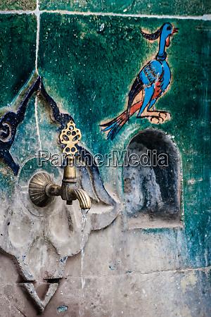 historical fountain covered handmade turkish ottoman