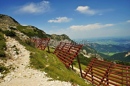 avalanche fence in the tyrolean alps