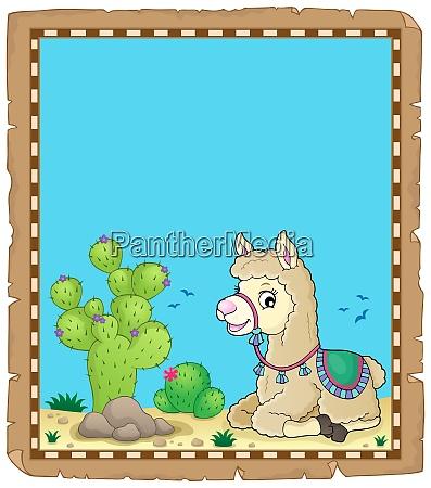 llama theme parchment 2